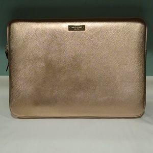 Kate Spade blush metallic laptop case